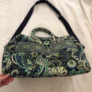 Vera Bradley small duffel bag in green print